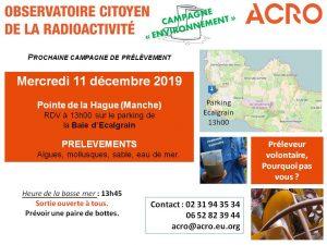 Prélèvements pour la surveillance radiologique du Cotentin @ Baie d'Ecalgrain
