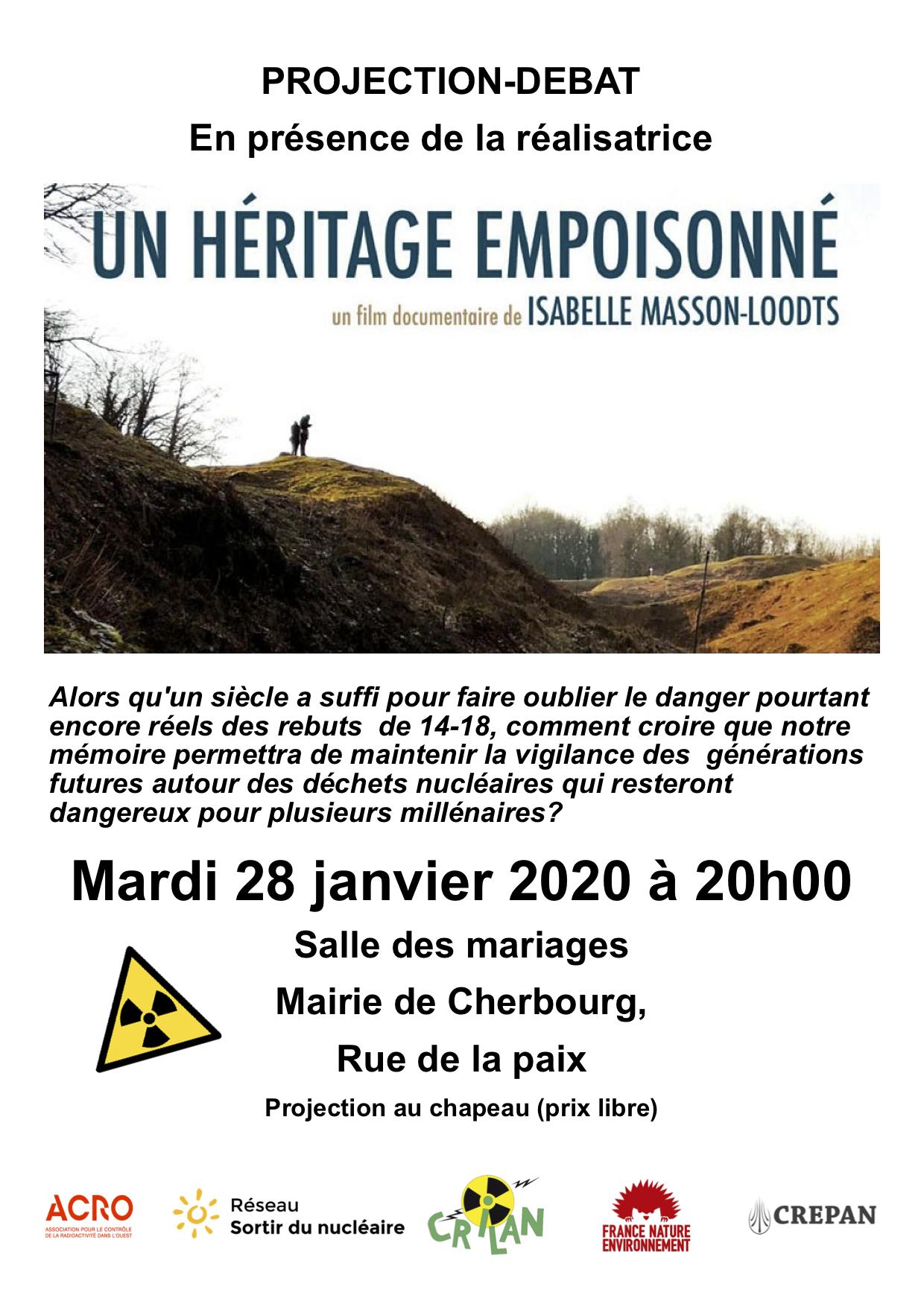 Projection - débat : un héritage empoisonné @ Mairie de Cherbourg - salle des mariages