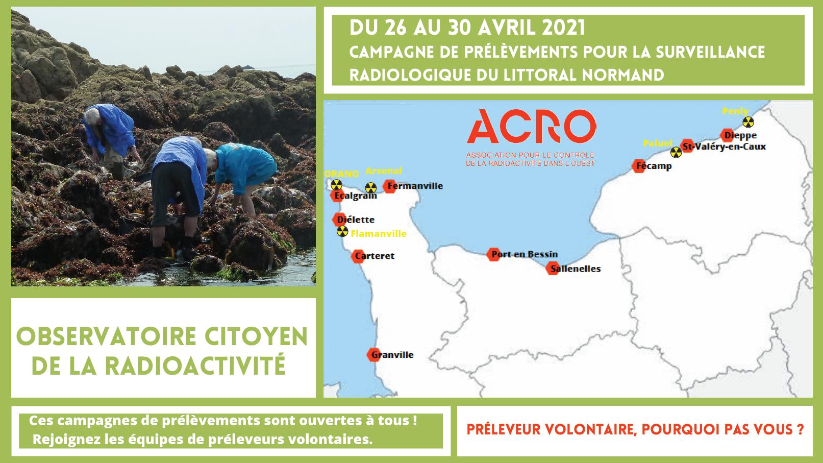 Campagne de prélèvements OCRE @ Côtes Normandes