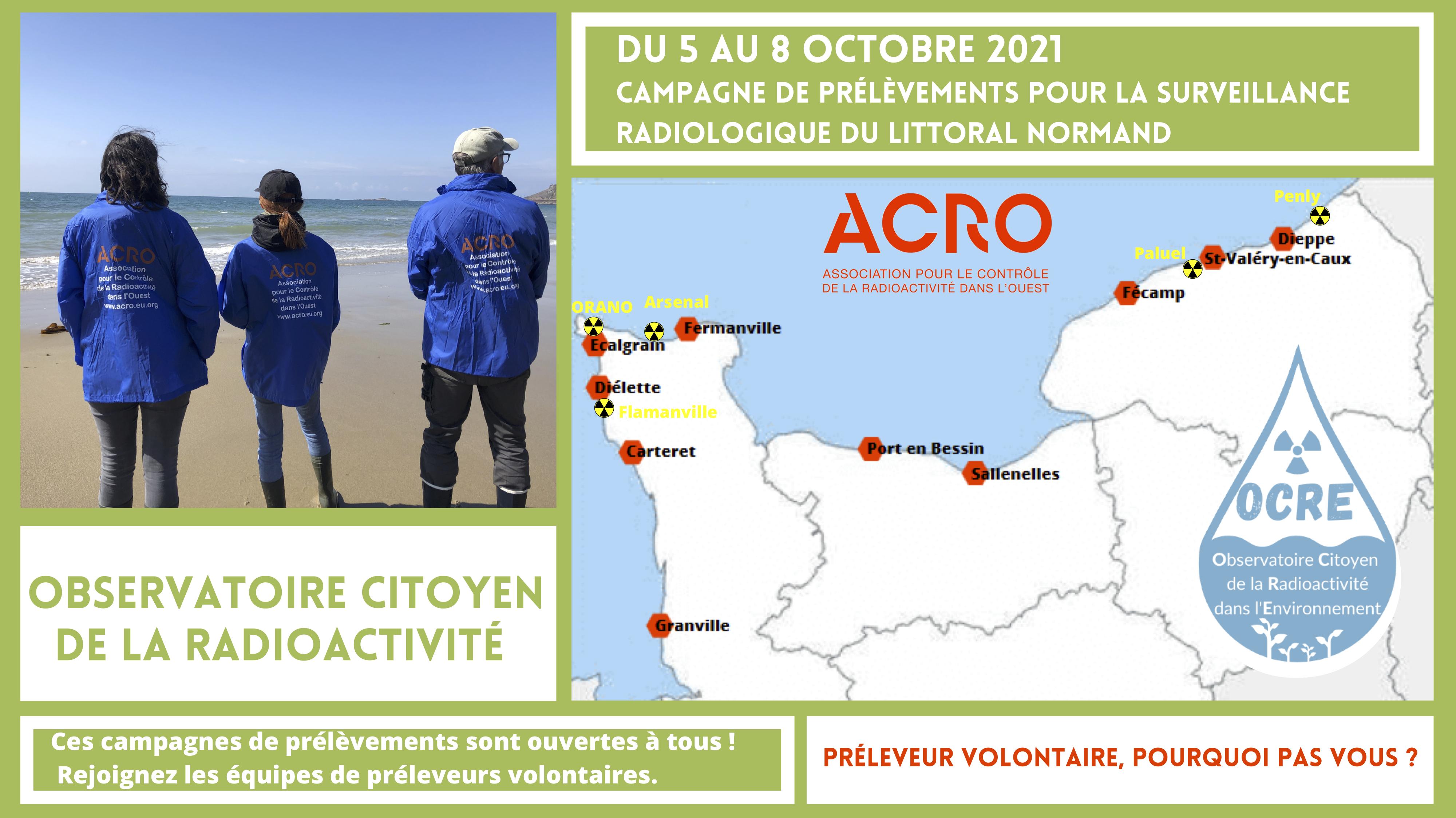 OCRE : Prélèvements sur les côtes normandes